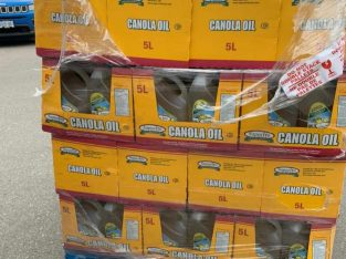 Skids of Canola oil available now.