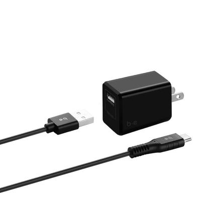 Blu Element – Wall Charger 2.4A w/USB-C Cable Blac