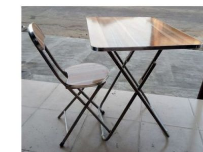 Adjustable Laptop/Reading Table And Chair Wooden