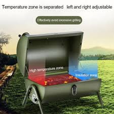 Portable Wood Pellet Grill with Thermometer Tablet