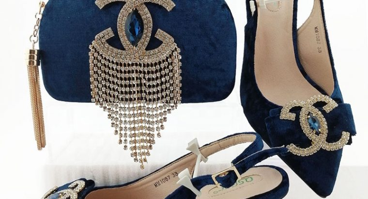 Italian Designer Shoes and Bag Matching Set