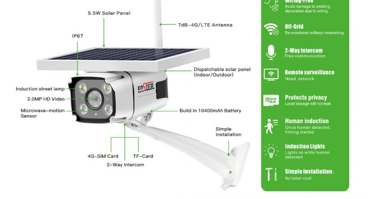 Wireless 3G-4G-Security-Ip-Camera Surveillance