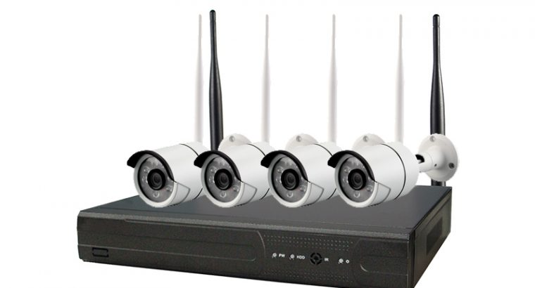 Wireless Network CCTV Camera Kit 1080p Wi-Fi