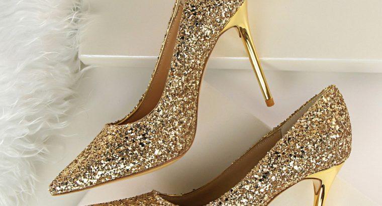 Fashion Glitter Bling 2020 Ladies Heels