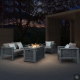 Outdoor Secitional Sofa Furniture with GasFire Pit