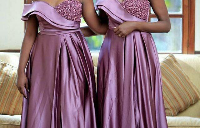 Beaded Women Formal Purple Bridesmaid Dresses